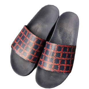 Primary Photo - BRAND: TORY BURCH STYLE: SANDALS FLAT COLOR: NAVY SIZE: 8 SKU: 232-23280-52461
