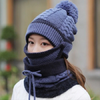 Knitted Winter Scarf Set