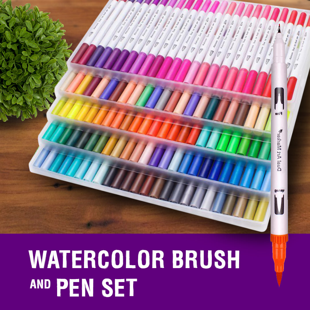 Long-lasting Watercolor Brush and Pen Set