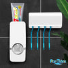AutoSqueeze Toothpaste Dispenser With Toothbrush Holder