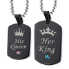 His and Hers Royal Dog Tags