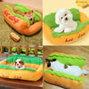 Hot Dog-Shaped Dog Bed