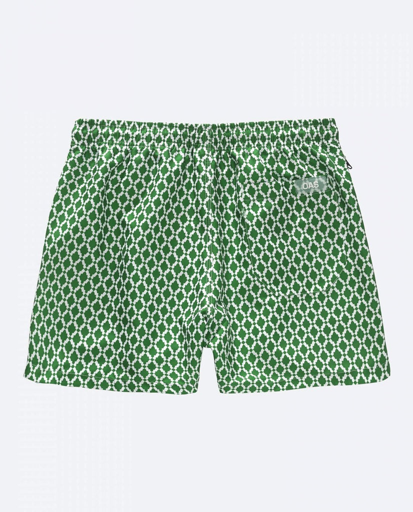 Green Tile Badeshorts | Green Tile Trunks