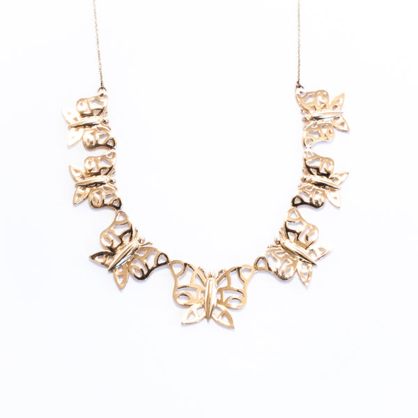 Gold Multi Butterfly Necklace