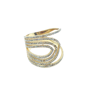 Gold Diamond Stranded Cigar Band