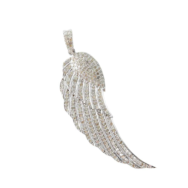 White Gold and Diamond Wing Pendant