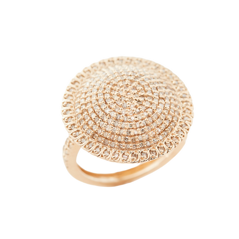 14k Gold Diamond Cushion Ring