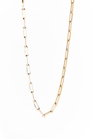 "14k Gold Large Link Chain  16.5"" with Diamond Clasp"