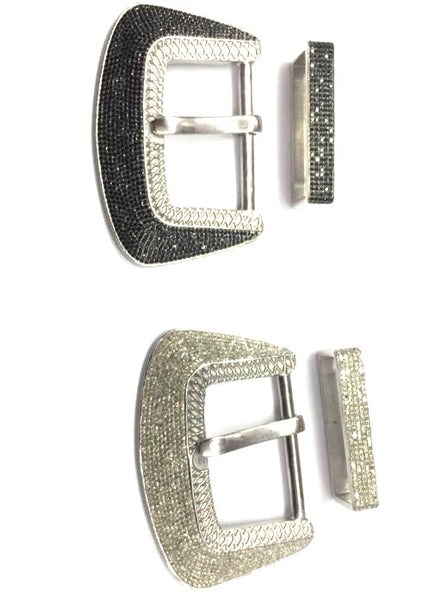 Diamond belt buckle and belt