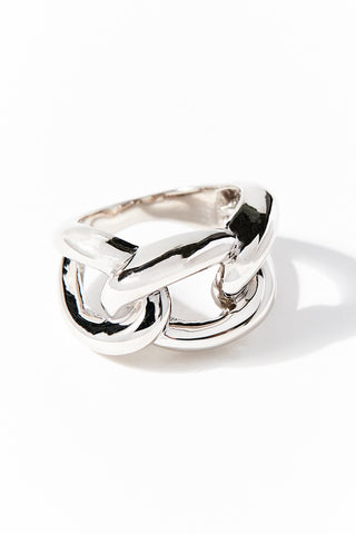 Sterling Silver Polished Chain Ring