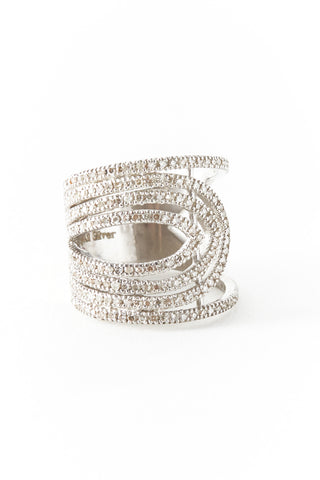 Silver Diamond Stranded Cigar Band