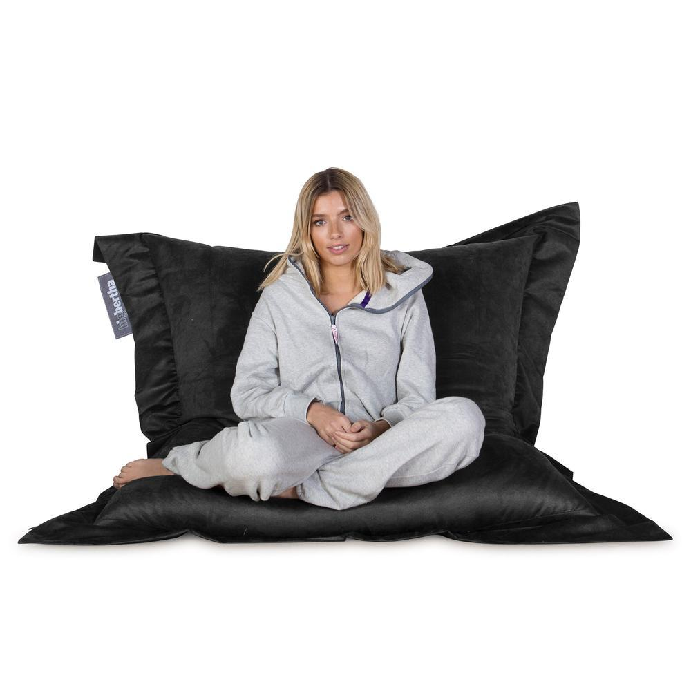 Suede-XXL-Giant-Bean-Bag-Black_4