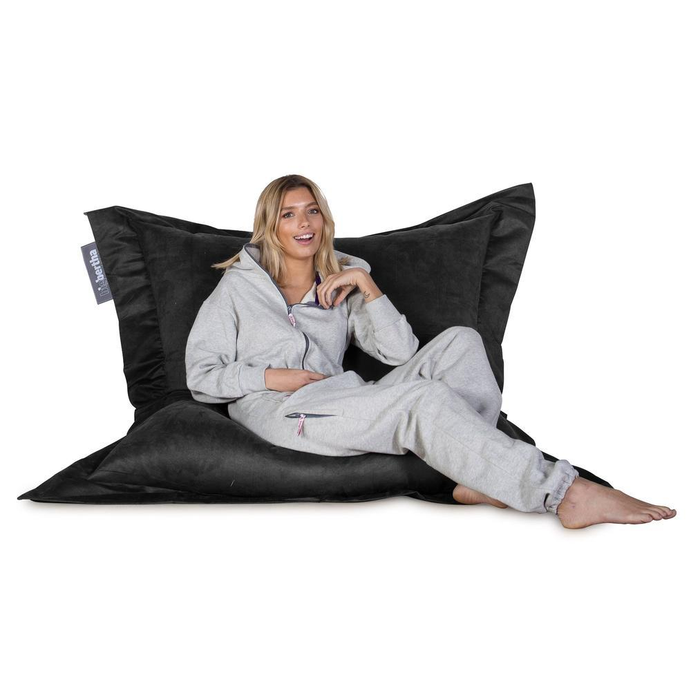 Suede-XXL-Giant-Bean-Bag-Black_5