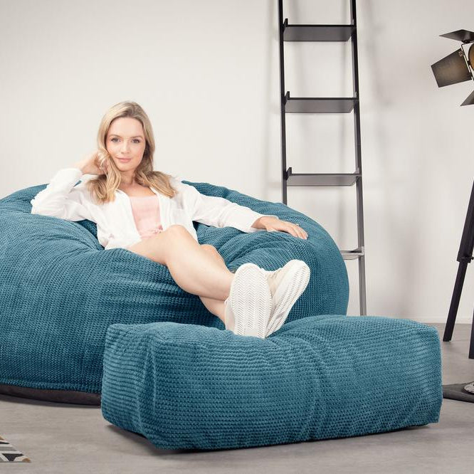CloudSac-1010-XXL-Giant-Memory-Foam-XXL-Bean-Bag-Sofa-Pom-Pom-Aegean-Blue_2