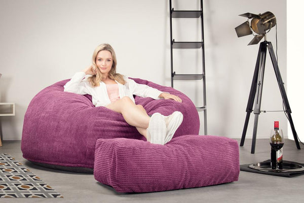 CloudSac-1010-XXL-Giant-Memory-Foam-XXL-Bean-Bag-Sofa-Pom-Pom-Pink_2