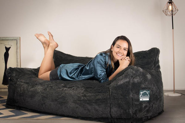 CloudSac-1200-Memory-Foam-Bean-Bag-Sofa-Fluffy-Faux-Fur-Badger-Black_2