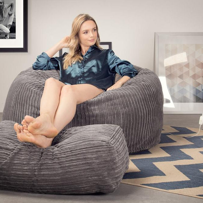 CloudSac-510-XL-X-Large-Memory-Foam-Bean-Bag-Cord-Graphite-Grey_2
