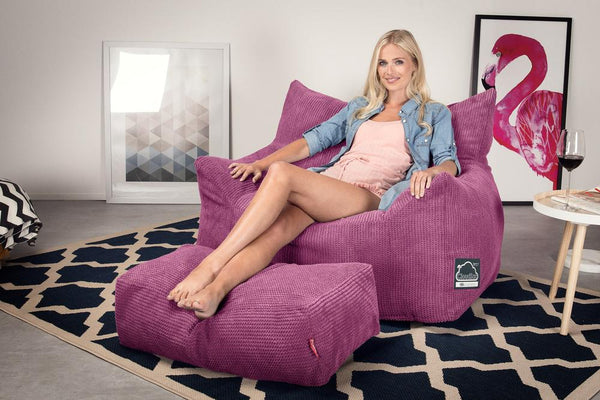 CloudSac-800-Memory-Foam-Bean-Bag-Armchair-Pom-Pom-Pink_2