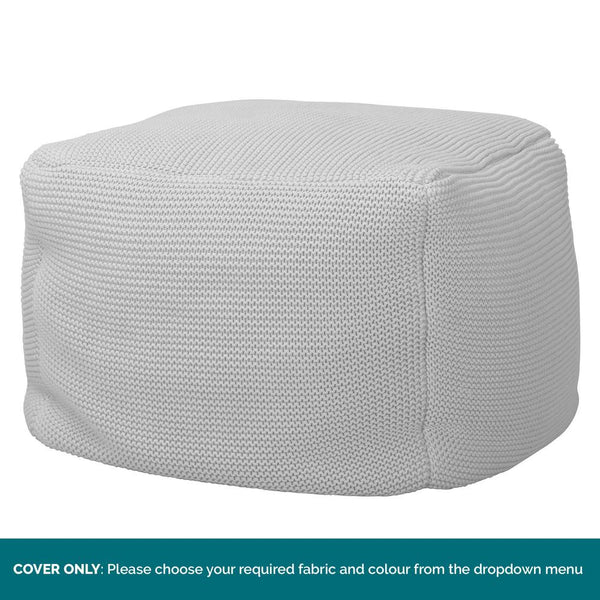 Chunky-Knit-Footstool-Pouffe-COVER-ONLY-Replacement-/-Spares_1