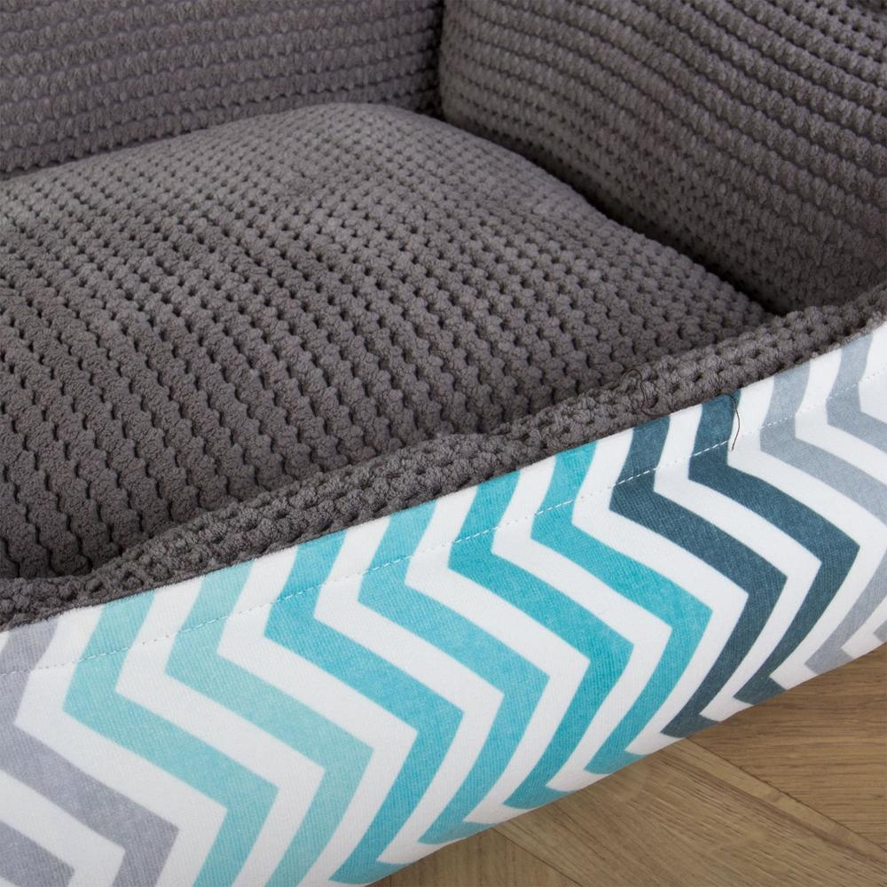 The-Nest-Orthopedic-Memory-Foam-Dog-Bed-Geo-Print-Chevron-Teal_5