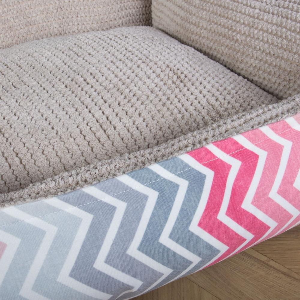 The-Sofa-Orthopedic-Memory-Foam-Sofa-Dog-Bed-Geo-Print-Chevron-Pink_6