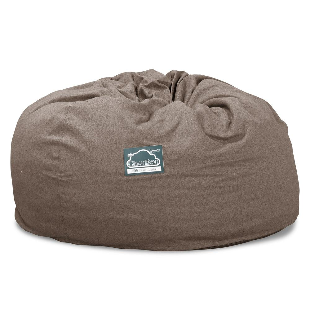 CloudSac-1010-XXL-Giant-Memory-Foam-XXL-Bean-Bag-Sofa-Interalli-Wool-Biscuit_5