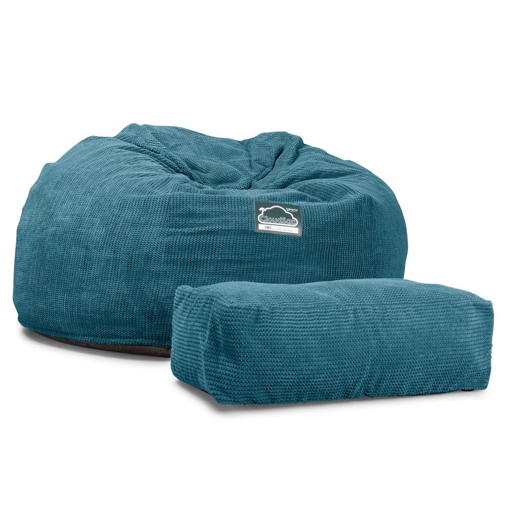CloudSac-1010-XXL-Giant-Memory-Foam-XXL-Bean-Bag-Sofa-Pom-Pom-Aegean-Blue_6