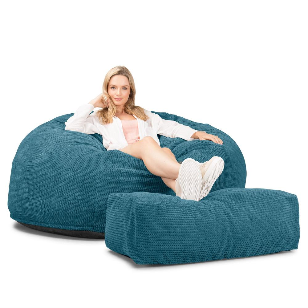 CloudSac-1010-XXL-Giant-Memory-Foam-XXL-Bean-Bag-Sofa-Pom-Pom-Aegean-Blue_1