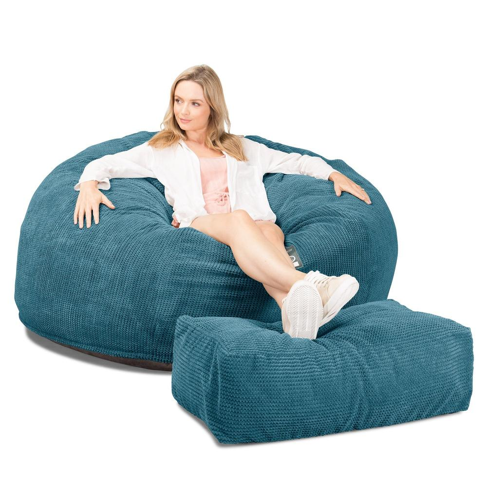 CloudSac-1010-XXL-Giant-Memory-Foam-XXL-Bean-Bag-Sofa-Pom-Pom-Aegean-Blue_4