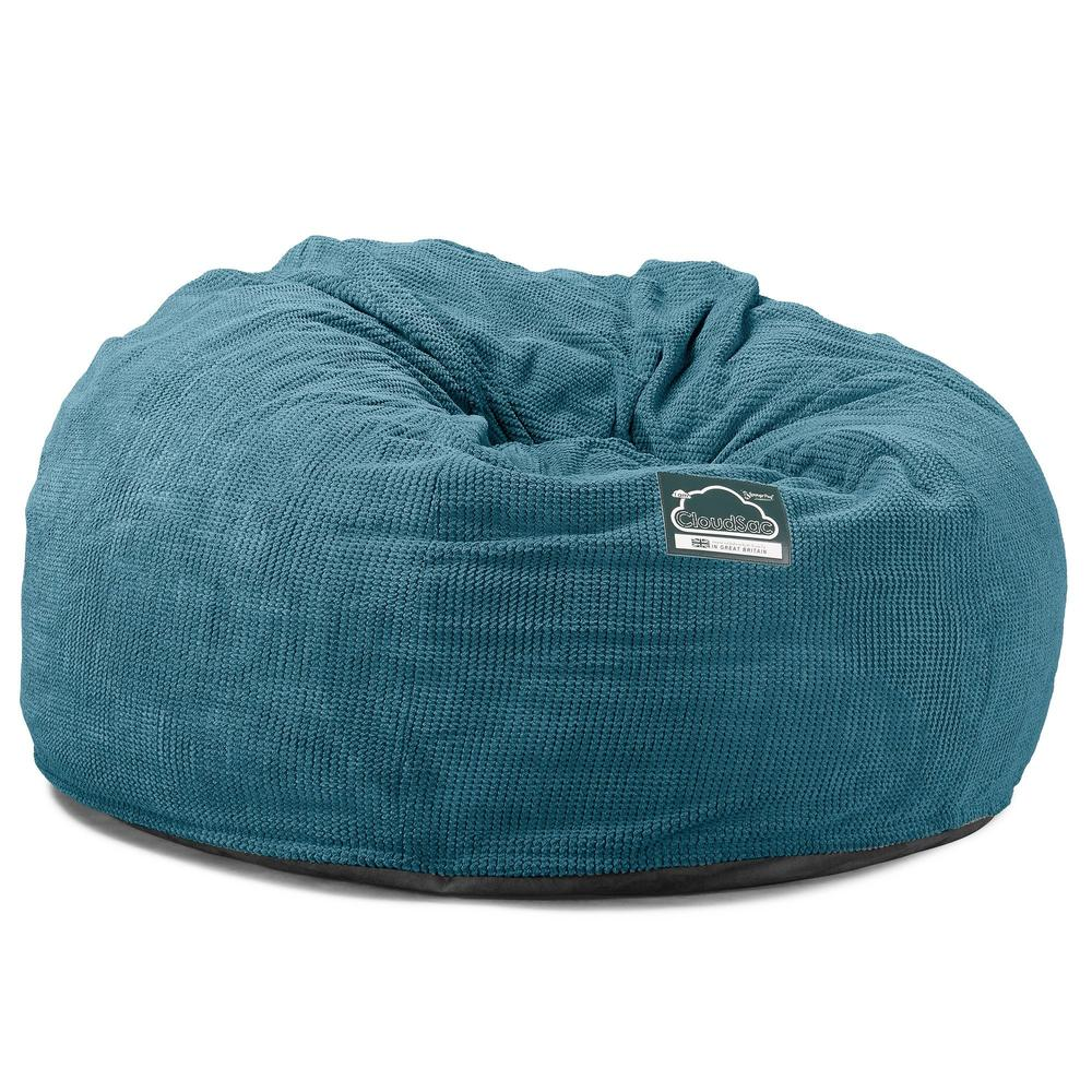 CloudSac-1010-XXL-Giant-Memory-Foam-XXL-Bean-Bag-Sofa-Pom-Pom-Aegean-Blue_5