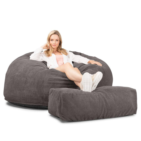 CloudSac-1010-XXL-Giant-Memory-Foam-XXL-Bean-Bag-Sofa-Pom-Pom-Charcoal-Grey_1