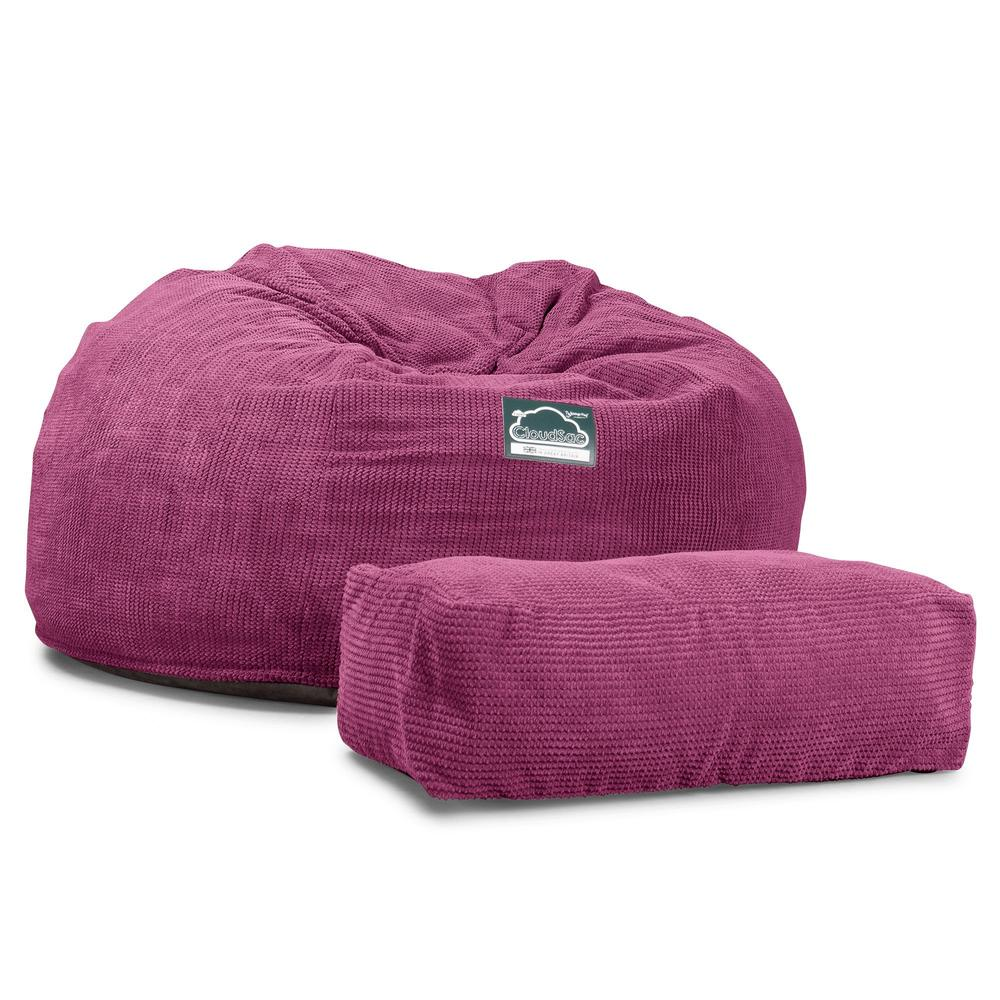 CloudSac-1010-XXL-Giant-Memory-Foam-XXL-Bean-Bag-Sofa-Pom-Pom-Pink_6