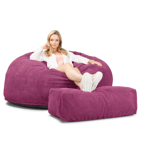 CloudSac-1010-XXL-Giant-Memory-Foam-XXL-Bean-Bag-Sofa-Pom-Pom-Pink_1