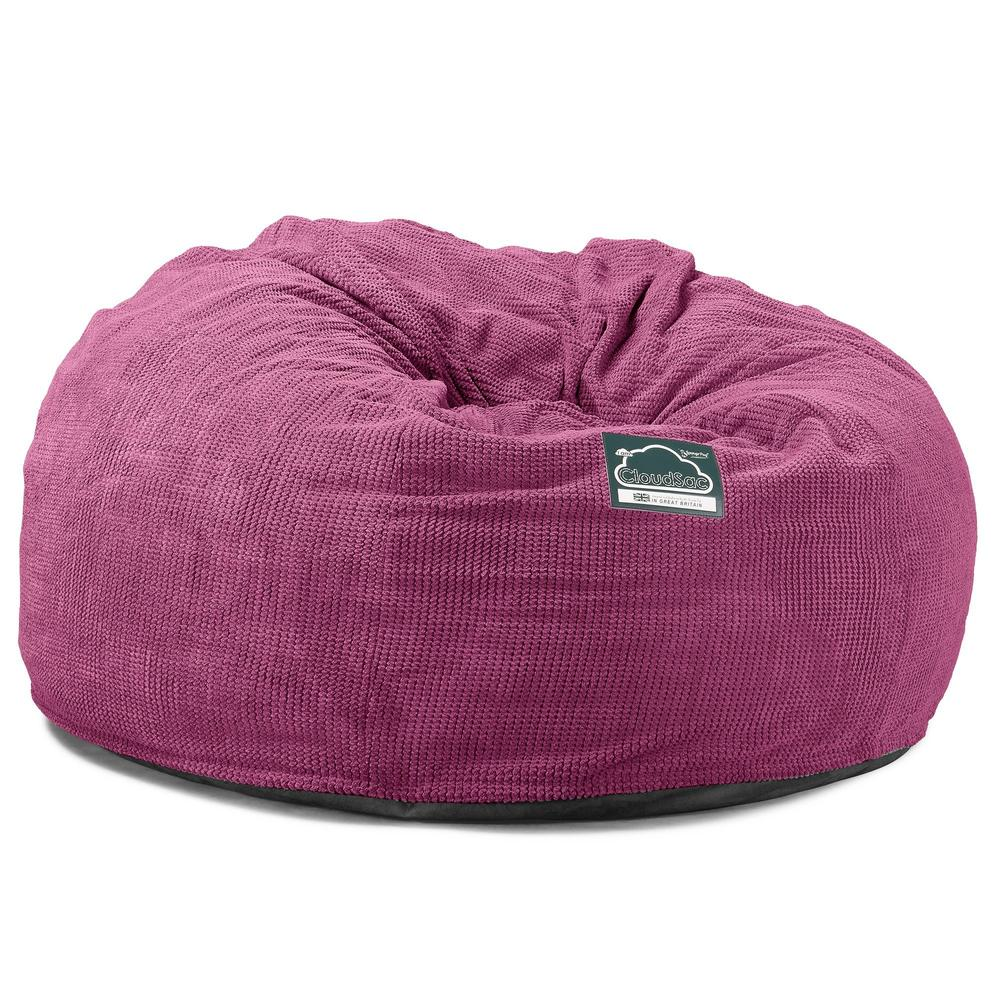CloudSac-1010-XXL-Giant-Memory-Foam-XXL-Bean-Bag-Sofa-Pom-Pom-Pink_5