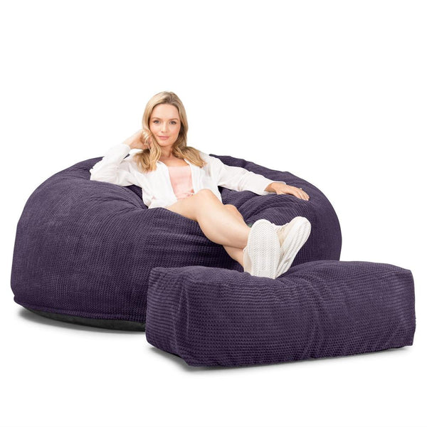 CloudSac-1010-XXL-Giant-Memory-Foam-XXL-Bean-Bag-Sofa-Pom-Pom-Purple_1