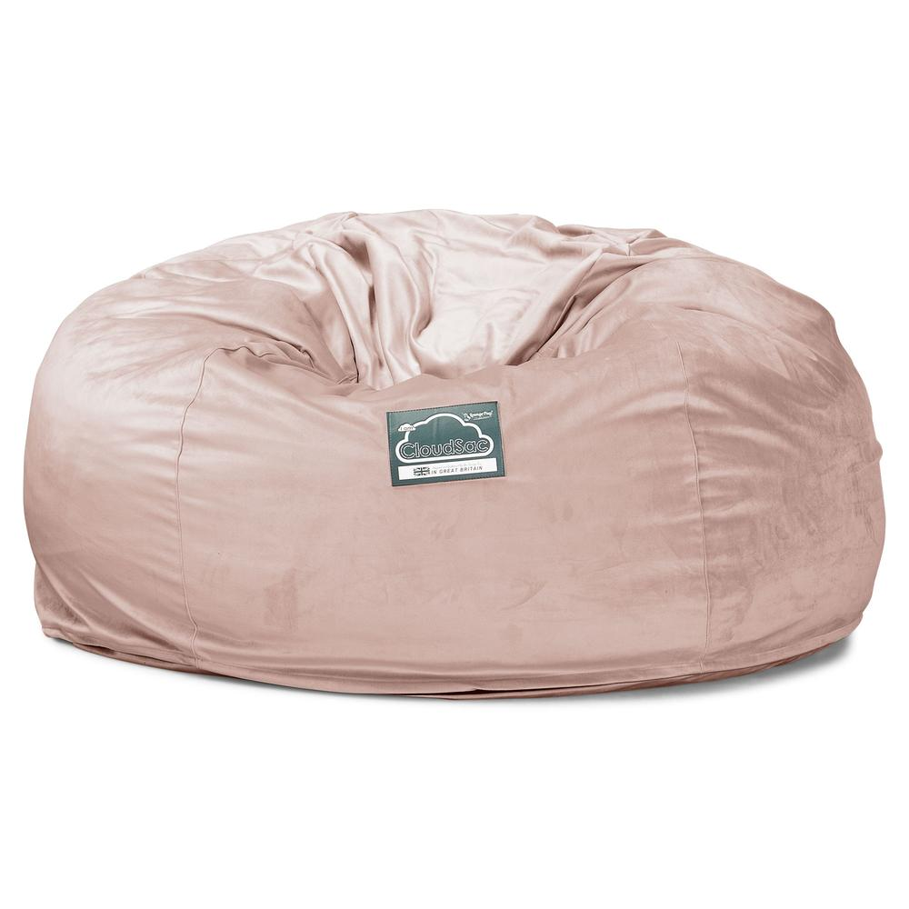 CloudSac-1010-XXL-Giant-Memory-Foam-XXL-Bean-Bag-Sofa-Velvet-Rose-Pink_5