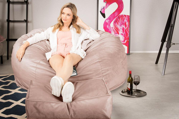 CloudSac-1010-XXL-Giant-Memory-Foam-XXL-Bean-Bag-Sofa-Velvet-Rose-Pink_2