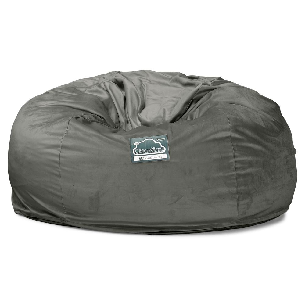 CloudSac-1010-XXL-Giant-Memory-Foam-XXL-Bean-Bag-Sofa-Velvet-Graphite-Grey_5