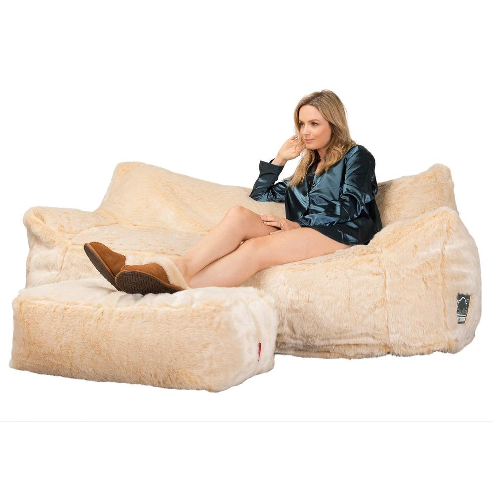 CloudSac-1200-Memory-Foam-Bean-Bag-Sofa-Fluffy-Faux-Fur-White-Fox_5