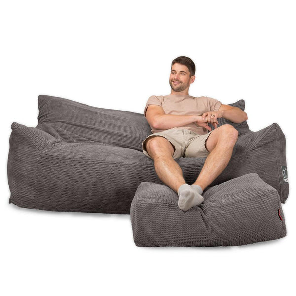 CloudSac-1200-Memory-Foam-Bean-Bag-Sofa-Pom-Pom-Charcoal-Grey_1