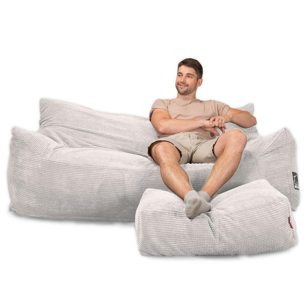 CloudSac-1200-Memory-Foam-Bean-Bag-Sofa-Pom-Pom-Ivory_1