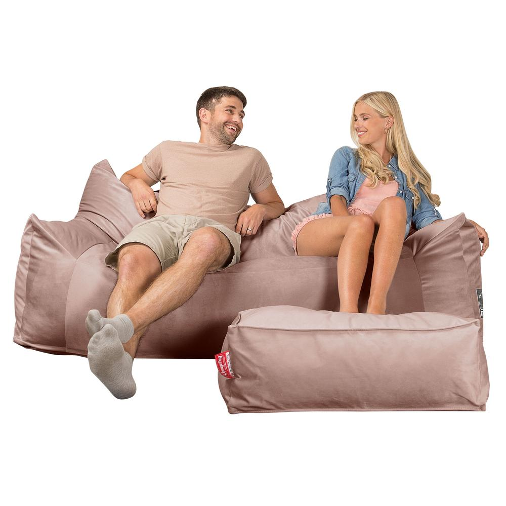CloudSac-1200-Memory-Foam-Bean-Bag-Sofa-Velvet-Rose-Pink_1