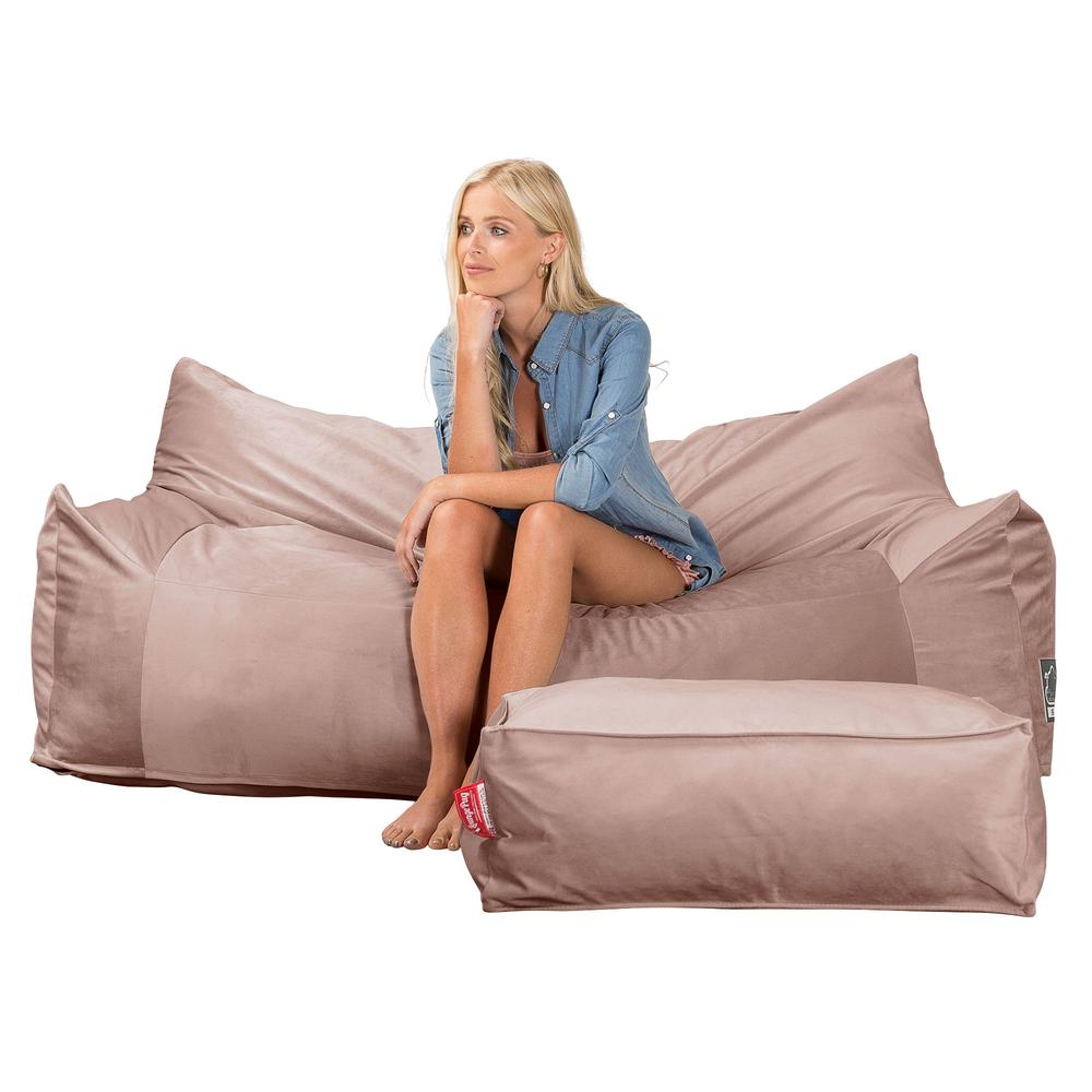 CloudSac-1200-Memory-Foam-Bean-Bag-Sofa-Velvet-Rose-Pink_4