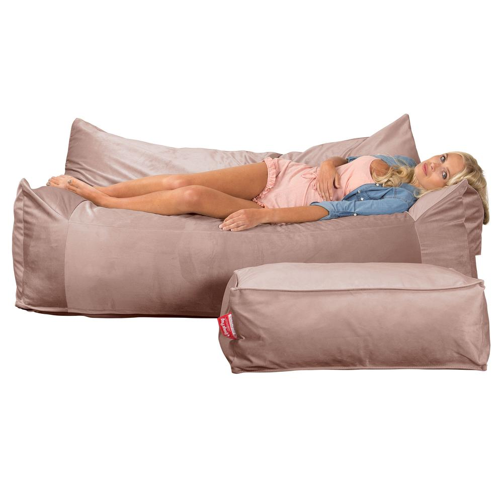 CloudSac-1200-Memory-Foam-Bean-Bag-Sofa-Velvet-Rose-Pink_5