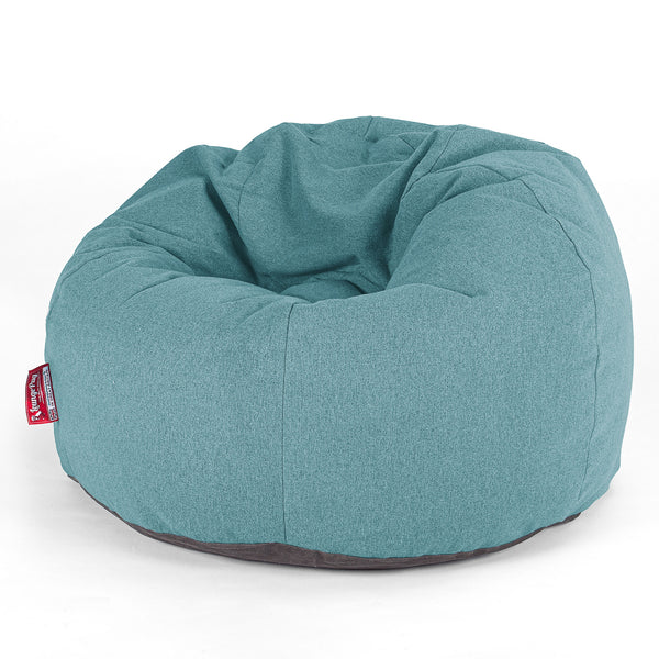 CloudSac Kids' - Memory Foam Giant Children's Bean Bag - Interalli Wool Aqua