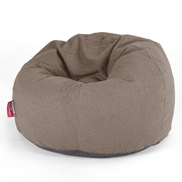 CloudSac Kids' - Memory Foam Giant Children's Bean Bag - Interalli Wool Biscuit
