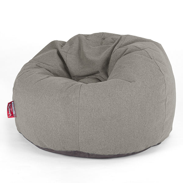 CloudSac Kids' - Memory Foam Giant Children's Bean Bag - Interalli Wool Silver