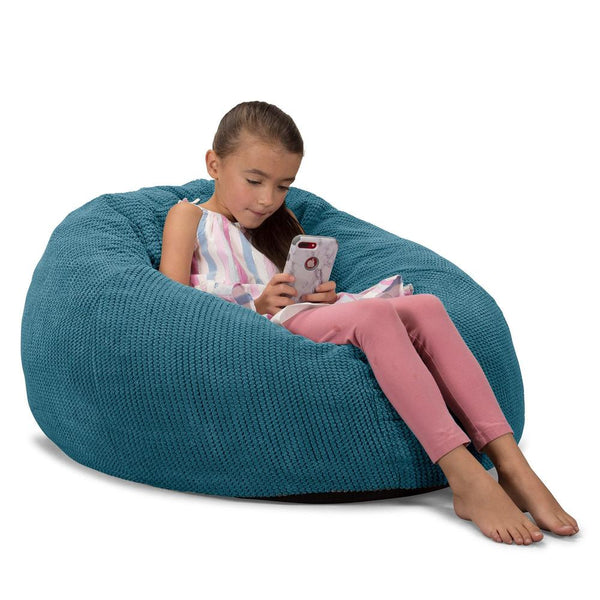 CloudSac-Kids'-Memory-Foam-Giant-Children's-Bean-Bag-Pom-Pom-Aegean-Blue_1