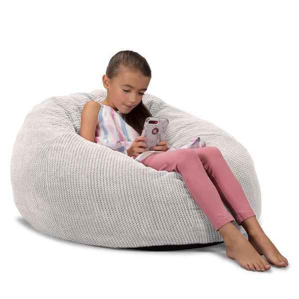 CloudSac-Kids'-Memory-Foam-Giant-Children's-Bean-Bag-Pom-Pom-Ivory_1