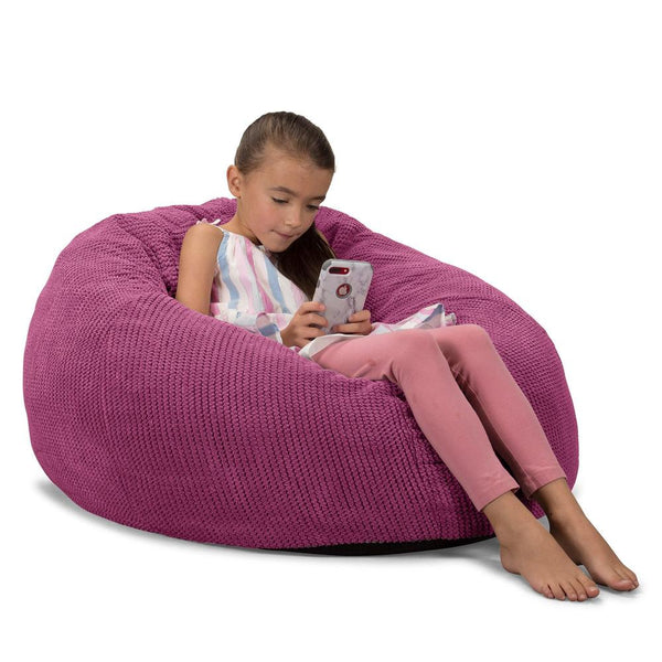 CloudSac-Kids'-Memory-Foam-Giant-Children's-Bean-Bag-Pom-Pom-Pink_1